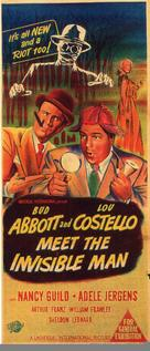 Abbott and Costello Meet the Invisible Man - Australian Movie Poster (xs thumbnail)