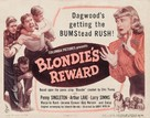 Blondie's Reward - Movie Poster (xs thumbnail)