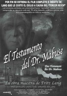 Das Testament des Dr. Mabuse - Spanish Movie Poster (xs thumbnail)