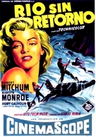 River of No Return - Spanish Movie Poster (xs thumbnail)