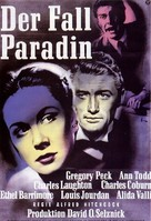 The Paradine Case - German Movie Poster (xs thumbnail)