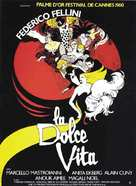 La dolce vita - French Movie Poster (xs thumbnail)