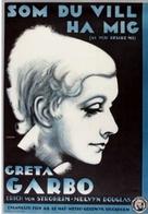 As You Desire Me - Swedish Movie Poster (xs thumbnail)