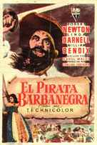 Blackbeard, the Pirate - Spanish Movie Poster (xs thumbnail)