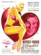 Méfiez-vous des blondes - French Movie Poster (xs thumbnail)