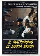 Die ehe der Maria Braun - Italian Movie Poster (xs thumbnail)