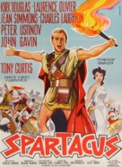 Spartacus - Danish Movie Poster (xs thumbnail)