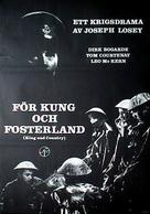 King & Country - Swedish Movie Poster (xs thumbnail)