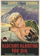 For Whom the Bell Tolls - Swedish Movie Poster (xs thumbnail)