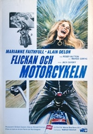 The Girl on a Motocycle - Swedish Movie Poster (xs thumbnail)