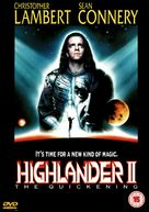 Highlander 2 - British DVD movie cover (xs thumbnail)