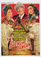 French Cancan - Belgian Movie Poster (xs thumbnail)
