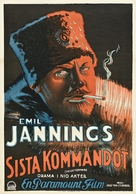 The Last Command - Swedish Movie Poster (xs thumbnail)