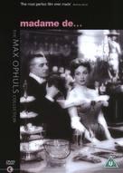 Madame de... - British DVD cover (xs thumbnail)