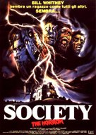 Society - Italian DVD cover (xs thumbnail)