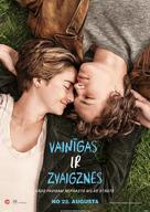 The Fault in Our Stars - Latvian Movie Poster (xs thumbnail)