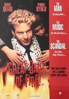 Great Balls Of Fire - British Video release movie poster (xs thumbnail)