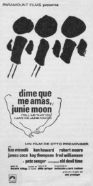 Tell Me That You Love Me, Junie Moon - Spanish Movie Poster (xs thumbnail)
