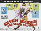 Seven Brides for Seven Brothers - British Movie Poster (xs thumbnail)