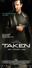 Taken - Danish Movie Poster (xs thumbnail)