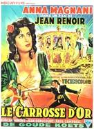 Le carrosse d'or - Belgian Movie Poster (xs thumbnail)