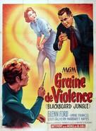 Blackboard Jungle - French Movie Poster (xs thumbnail)