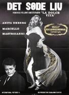 La dolce vita - Danish Movie Poster (xs thumbnail)