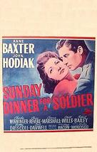 Sunday Dinner for a Soldier - Movie Poster (xs thumbnail)