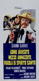 Uomo avvisato mezzo ammazzato... Parola di Spirito Santo - Italian Movie Poster (xs thumbnail)