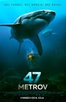 47 Meters Down - Slovak Movie Poster (xs thumbnail)