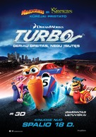 Turbo - Lithuanian Movie Poster (xs thumbnail)