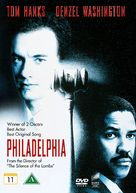 Philadelphia - Danish DVD cover (xs thumbnail)