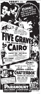 Five Graves to Cairo - poster (xs thumbnail)