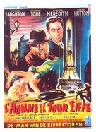 The Man on the Eiffel Tower - Belgian Movie Poster (xs thumbnail)