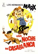 A Night in Casablanca - Spanish Movie Poster (xs thumbnail)