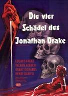 The Four Skulls of Jonathan Drake - German Movie Poster (xs thumbnail)
