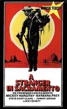 Uno straniero a Sacramento - Norwegian VHS movie cover (xs thumbnail)