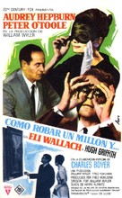 How to Steal a Million - Spanish Movie Poster (xs thumbnail)
