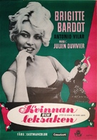 La femme et le pantin - Swedish Movie Poster (xs thumbnail)