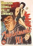 Unfaithfully Yours - Italian Movie Poster (xs thumbnail)