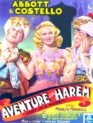 Lost in a Harem - French Movie Poster (xs thumbnail)