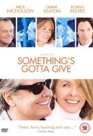 Something's Gotta Give - British DVD movie cover (xs thumbnail)