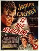 13 Rue Madeleine - Belgian Movie Poster (xs thumbnail)