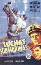 The Frogmen - Spanish Movie Poster (xs thumbnail)