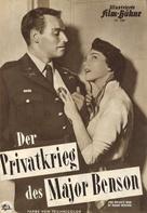 The Private War of Major Benson - German poster (xs thumbnail)