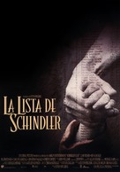 Schindler's List - Spanish Movie Poster (xs thumbnail)