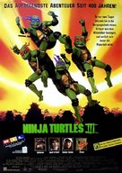Teenage Mutant Ninja Turtles III - German Movie Poster (xs thumbnail)