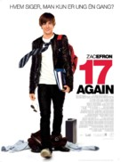 17 Again - Danish Movie Poster (xs thumbnail)
