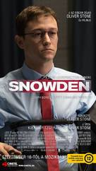 Snowden - Hungarian Movie Poster (xs thumbnail)