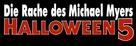 Halloween 5 - German Logo (xs thumbnail)
